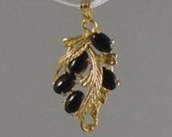 Faux Black Coral Pendant