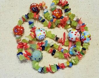 Groovy Hippie Love Beads - Groovy Beads - Hippie Beads - Love Beads