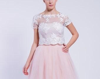 lace blouse,  off white lace blouse, elegant top, romantic top, party blouse, wedding dress
