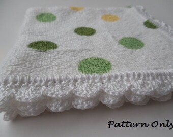 Pattern - Crochet Edged Dish Cloths - Crochet Pattern - Crochet Edged Wash Cloths - Crochet Edging Pattern - Crochet Trim - Instant Download
