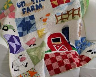 Baby/Child Farm Animal Quilt Pattern