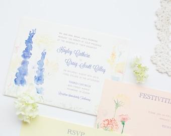 Watercolor Pocket Card Invitation