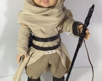 Star Wars, Star Wars Doll, Doll Star Wars, Rey Doll, Rey Doll Costume, Rey Costume, Doll Costume, Star Wars