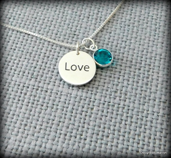 Sterling silver love necklace, braille  necklace, Valentine necklace, wedding jewelry, Mothers jewelry, jewelry for the love of the blind