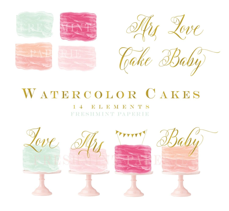 Watercolor Cake Clipart Cake Clipart Paint Clipart