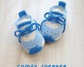 """Crochet Preemie Pattern Comfy Preemie Sneakers Crochet 18 inch Doll Shoes 18"""" Doll Shoe Size Crochet Booties Crochet Pattern Newborn Shoes"""