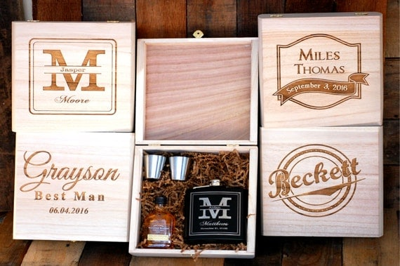 ... Groomsman Gift Box, Gift for Men, Husband Holiday Gift, Boyfriend Gift