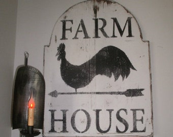 Farmhouse sign / FREE SHIPPING ! / rooster wall art / signs