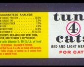 Three Aristocat of Cat Food Labels - Retro 1970's - Handmade Cards, Collage, Decoupage, Scrapbooking