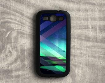 Samsung Galaxy S3 Case Aurora Borealis, Night Sky Galaxy S3 Case, Galaxy S4 Case Northern Lights, Galaxy S7 Edge Case Rubber Sides