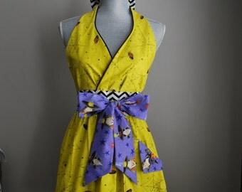 The *Halloween* Betty • full apron - baking apron - gift idea - cooking apron - ladies - retro - vintage
