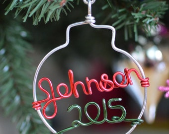 Holiday Sale.Personalized Ornament - Handcrafted with Name - Christmas Gift