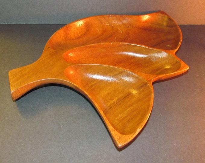 Monkey wood leaf tray, retro decor, leaf tray, wood tray, wood leaf tray, vintage monkey wood tray, vintage decor, budget decor, affordable