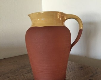 Vintage Pottery, Terracotta Jug Made in Ireland ... Free Shipping...20% Off Coupon...TAKE20