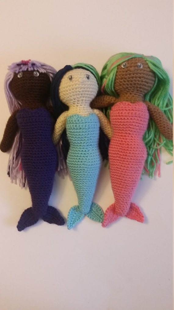 Mermaid Amigurumi Doll CROCHET PATTERN ONLY Not a finished