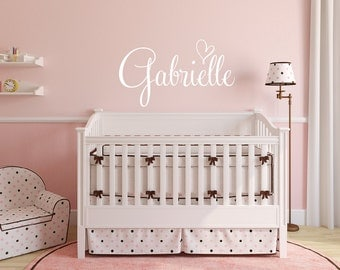 Wall Decal Girls Room   Name Wall Decal Heart Decal   Name Wall Decal    Nursery Part 92