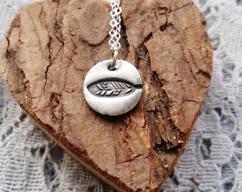 Feather Print Necklace