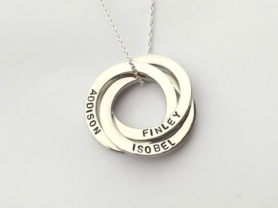 Russian Ring Name Necklace