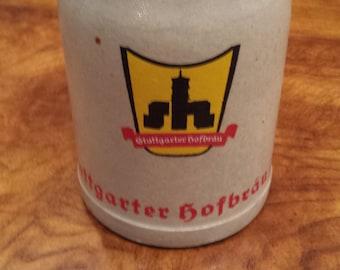 Vintage German Stein - Gtuttgarter Hofbrau AG - 0.5L