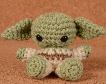 Mini Yoda Star Wars Crochet Toy Doll