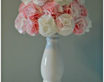 Customizable Order- Fabric Flower Lampshade, Fabric Rosette Lampshade