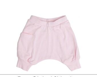 Girl Toddler Clothes - Toddler Girl Clothes, Girl Toddler Harem Shorts, Toddler Girl Shorts, Toddler Girl Harem Shorts - Ice Cream Pink