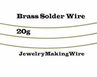 Yellow Brass Solder Wire, 20 Gauge, 6 Feet