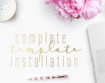 Installation of Template & Extra Elements