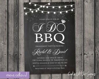 I Do BBQ Chalk Invitation Digital Download