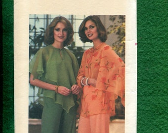 1970's Butterick 5341 Angel Fairy Butterfly Wing Blouse Size Large 16/18 UNCUT