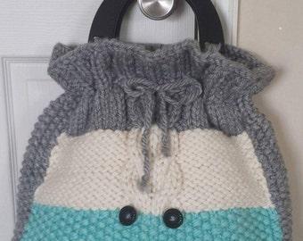 Hand knit handbag (Large size bag)