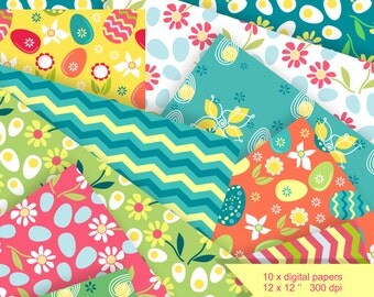 Easter eggs printable gift tags colorful candy gift wrapping spring digital paper easter scrapbook collage sheet easter eggs spring flowers blue negle Images