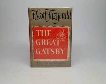 First Edition The Great Gatsby by F. Scott Fitzgerald - Grosset & Dunlap, 1949 with Original Dust Jacket