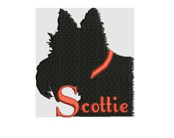 a dog embroidery design , Scottie  embroidery file