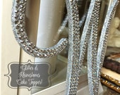 "Wedding Cake Topper - Glitter Bling Crystal Rhinestone Monogram Initial Letter (6"" Tall) | A B C D E F G H I J K L M N O P Q R S T U V W X Y"