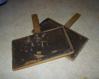 Antique Wool Carders - Set of 2