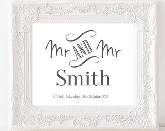 Wedding Anniversary Gifts For Husband In Sri Lanka : and mr wedding gift print personalised anniversary print anniversary ...