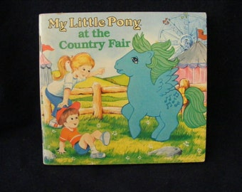 My Little Pony Book, Country Fair, Kids Book, Ponies Book, Medley, Medley Little Pony, 1984
