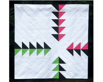 Pike's Peak - Printed Quilt Pattern - Wall and Lap sizes - Modern quilt, negative space quilt, minimal quilt