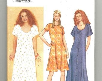 3127 Butterick Sewing Pattern Lined Dress Choice Length UNCUT Size 8 10 12