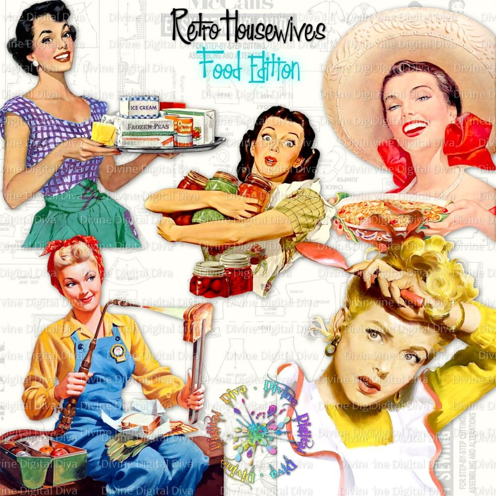 Retro housewives food edition vintage 50s women food for Classic housewife