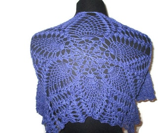 Purple lace crochet bolero in size extra small with half sleeves