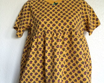 Yellow Floral Baby Doll Top