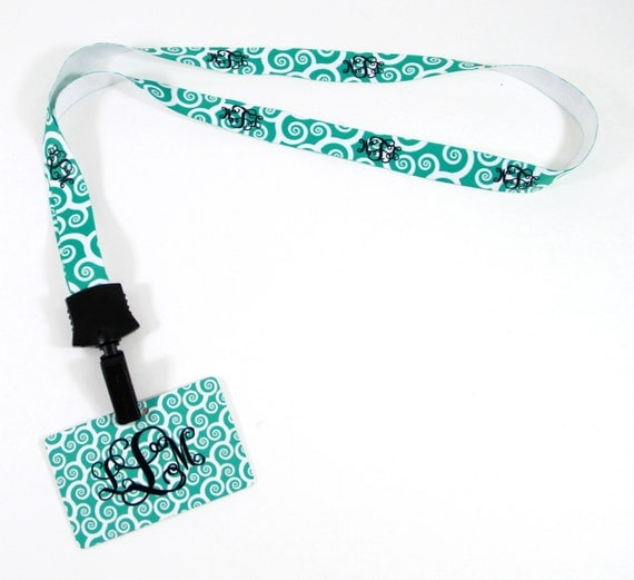 Monogrammed Gifts for Coworkers, Gift Ideas for Nurses and Students, Personalized Lanyard ID Holder Monogram Gift Ideas Friends & Coworkers
