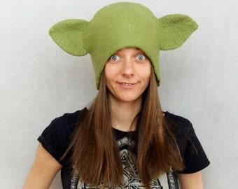 Yoda Hat - Star Wars Inspired Yoda Costume Hat -  Force Awakens Yoda Ears Headdress
