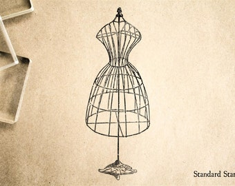 Wire dress form etsy for Wedding dress rubber stamp