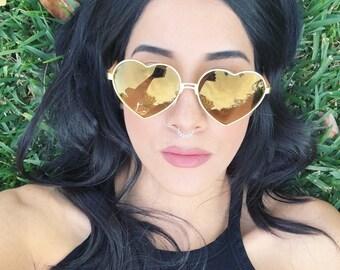 Heart Sunglasses / Heart Shaped Sunglasses / Heart Sunnies / Vintage Sunglasses / Lana Del Rey Sunglasses / Lolita Sunglasses