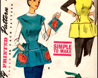 Simplicity 4492  Misses' And Women's Cobblers Apron, Half Apron And Pot Holder