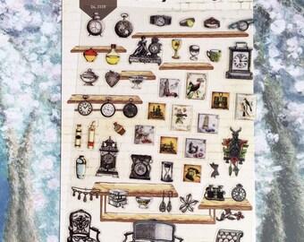 antique house vintage furniture sticker classic furniture Deco label sticker classic sofa retro stuff antique home icon sticker gift
