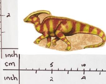 Parasaurolophus Dinosaur Iron On Fabric Transfer Applique - 286